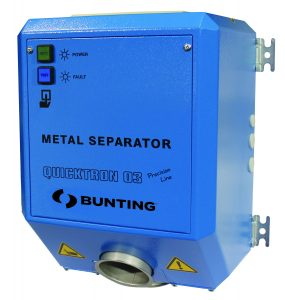 QuickTron Blue-gravity feed metal detectors-Plastics-Recycling--metal separation-metal detection-Bunting-Newton