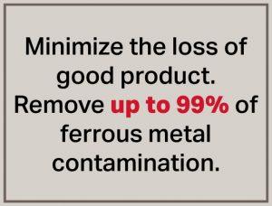 Minimize Loss-Gravity Fall Metal Detectors-Metal Separators-Bunting-Newton