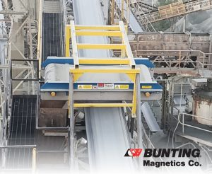 Custom-Designed Permanent Crossbelt Separator Helps Pave the Way-Bunting Magnetics