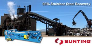 Bunting SSSC- Make More Money with the SSSC Stainless Steel Separation Conveyor-Bunting Newton-Material Handling-Magnetic Separation