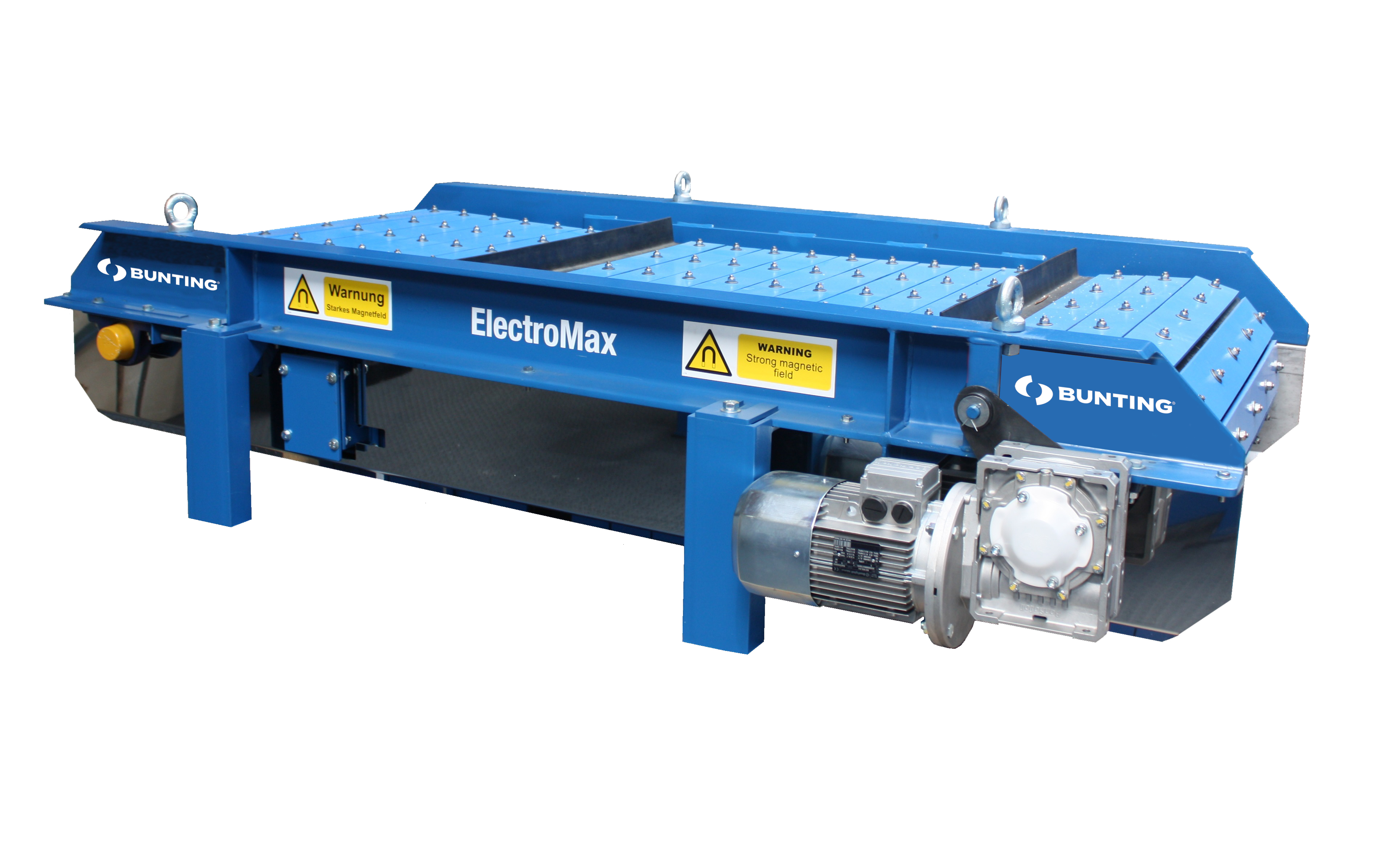 ElectroMax Overband Magnetic Separator electromax1-blue-bunting