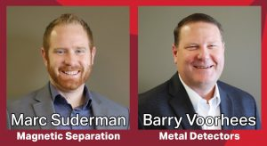 Barry Voorhees and Marc Suderman2-Bunting to Exhibit at Pack Expo Connects-Magnetic Separation-Metal Detection